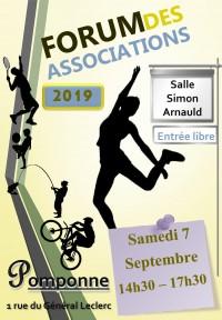 Forum des associations samedi 7 septembre de 14h30 à 17h30 salle Simon Arnauld