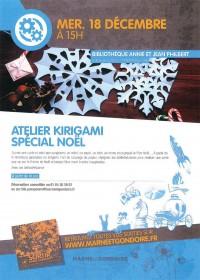 Atelier Kirigami spécial Noël